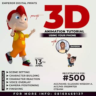 3D animation tutorial
