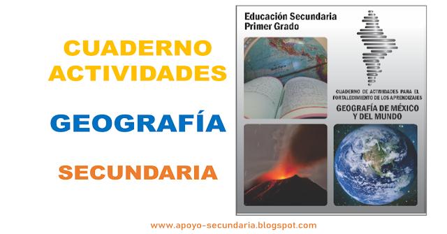 Libro de geografía con actividades por aprendizaje esperado de Secundaria