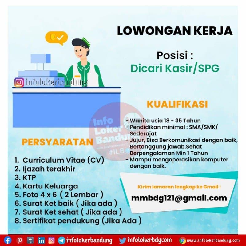 Lowongan Kerja Kasir / SPG Minimarket Bandung April 2021