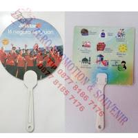 Kipas Promosi, souvenir kipas plastik pvc, Kipas PVC Gagang Lurus, Kipas Plastik Gagang Lurus