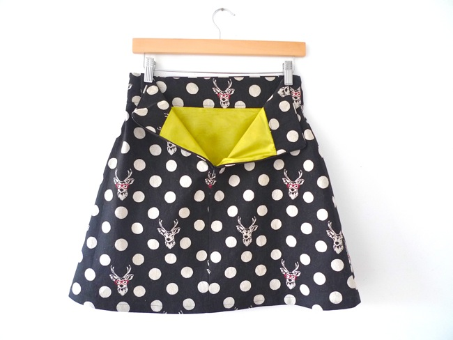 Lined Delphine skirt - sewing pattern in Love at First Stitch