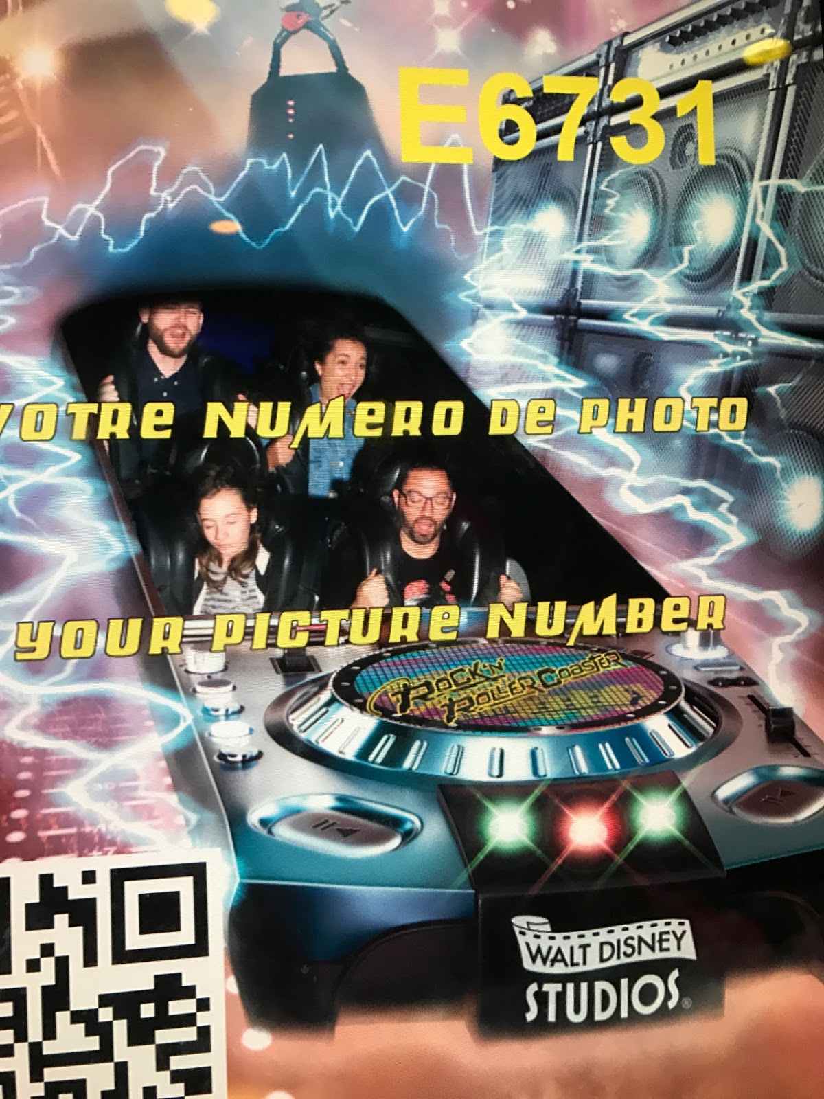 Rock n Roller Coaster ride, Disneyland Paris