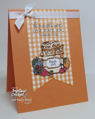"ODBD ""Peaches"", ""Gingham Background"" Card Designer Angie Crockett"