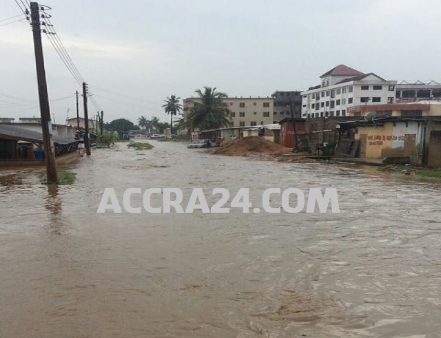 Rain flood in Accra Again