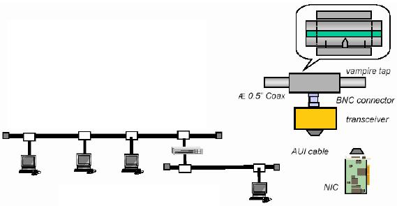 Gambar 3.7 Ethernet 10Base5