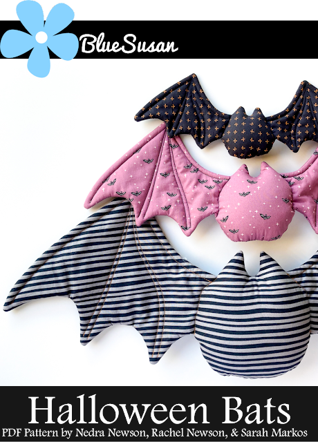 Halloween bats sewing pattern