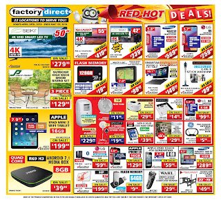 Factory Direct weekly Flyer April 25 - May 1, 2019