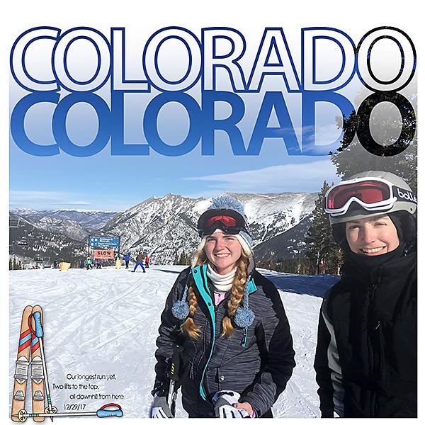Scrapbook Page using Colorado Cut Outs.