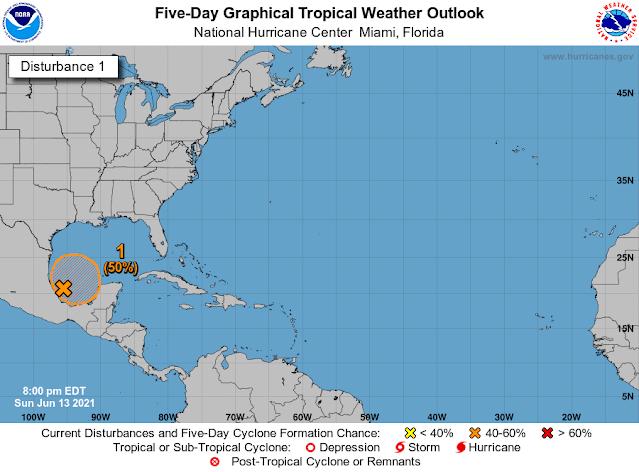 Probabilidad de una depresión tropical el fin de semana