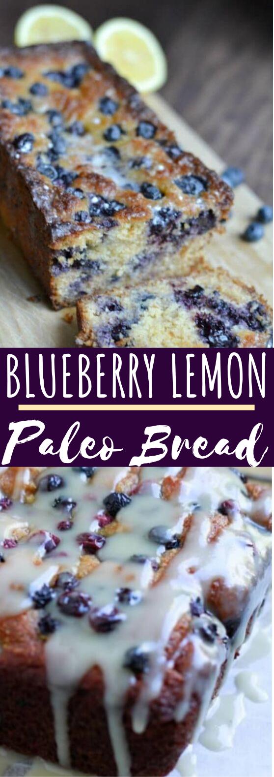 Paleo Blueberry Lemon Bread #healthy #breakfast