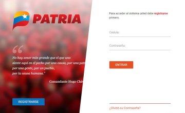 www patria.otg.ve Registro brigadista de Somos Venezuela que lo atiende para darle seguimiento a los programas de protección que recibe
