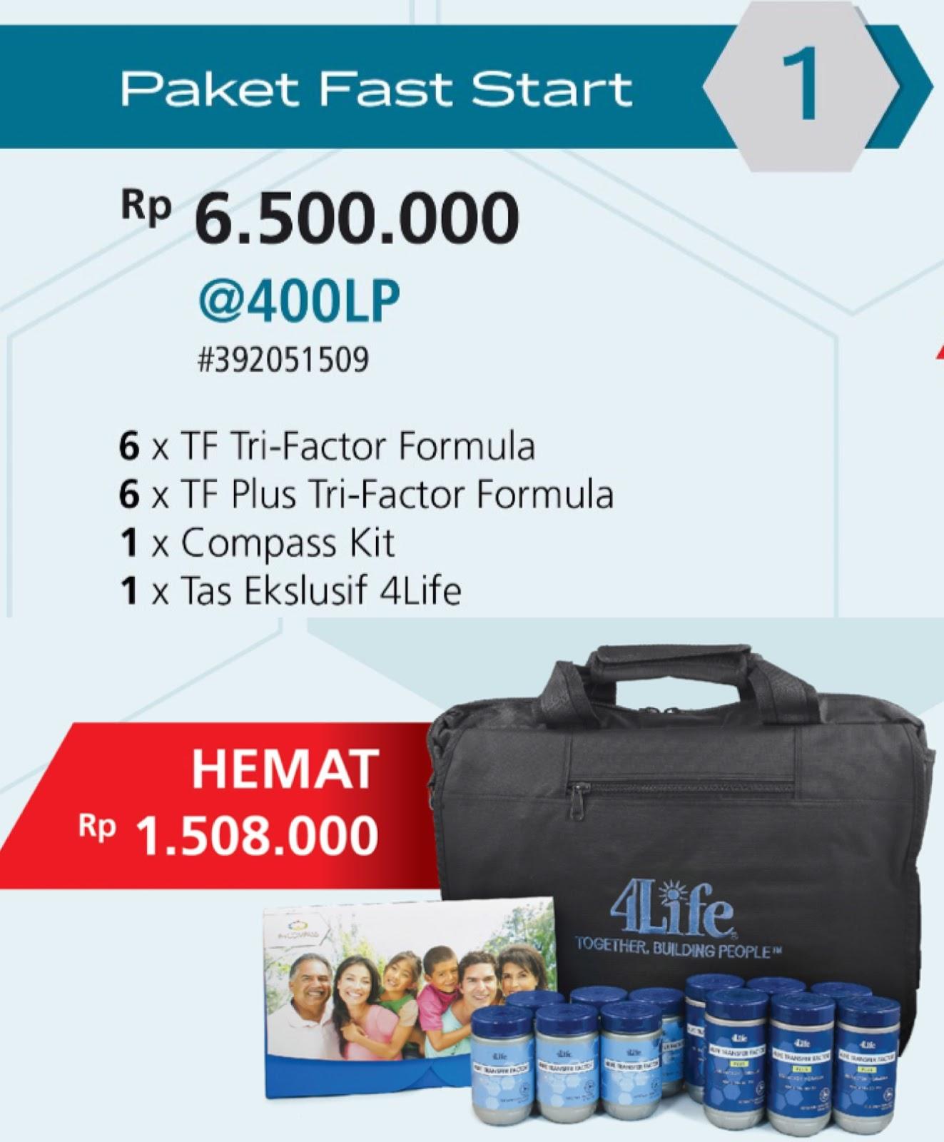 Paket FASTSTART 4Life Transfer Factor