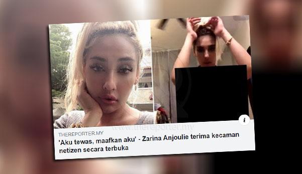 Zarina Anjoulie Buka  tudung.Sekarang Makin Seksi Siap Nampak N1ples Lagi