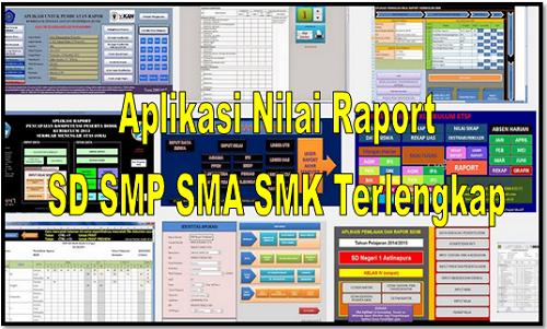 Aplikasi Nilai Raport SD SMP SMA SMK Terlengkap
