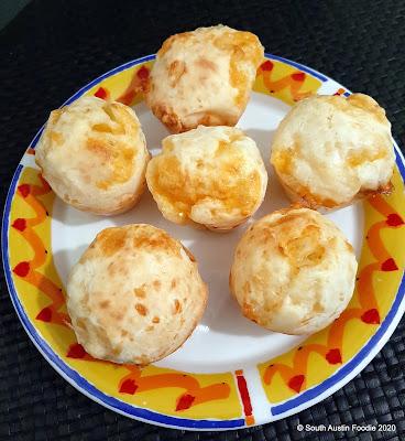 Homemade: pao de queijo (Brazilian cheese balls)