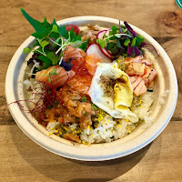 Salmon bowl at Single Fin Kitchen
