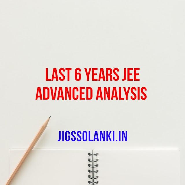 LAST 6 YEARS JEE ADVANCED ANALYSIS