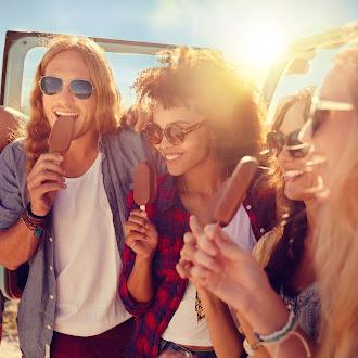 Having Ice cream with all travelers