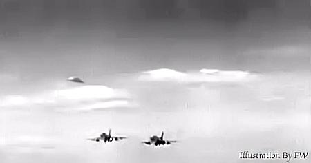 Fighter Jets Pursue UFO
