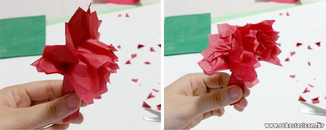 Guirlanda fácil com papel seda - pompom