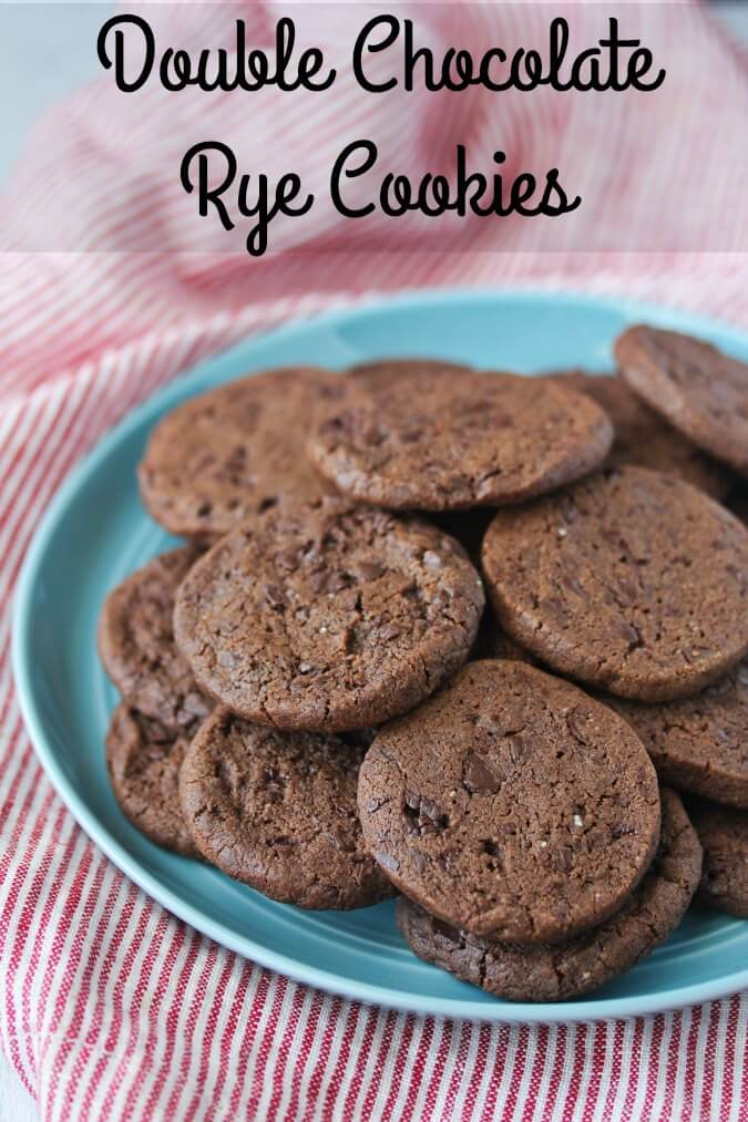 Double Chocolate Rye Blackout Cookies