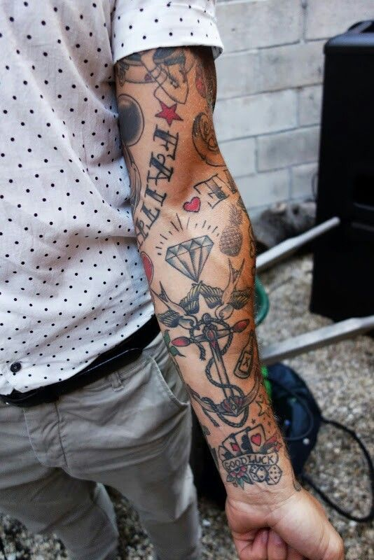 Diamond Arm Tattoos