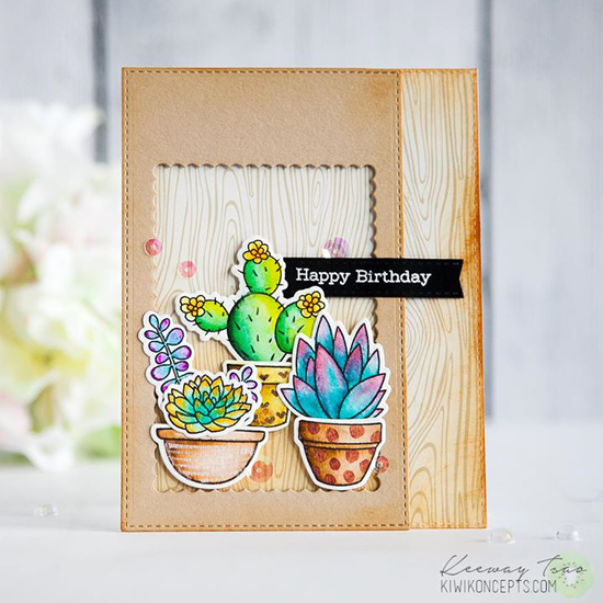 Laina Lamb Design Sweet Succulents stamp set and Die-namics - Keeway Tsao #mftstamps