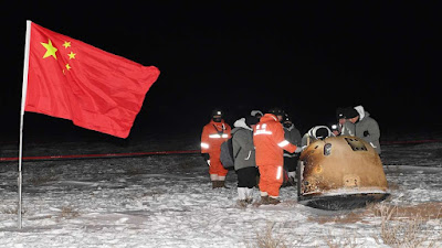 China's lunar mission Chang'e returns to Earth