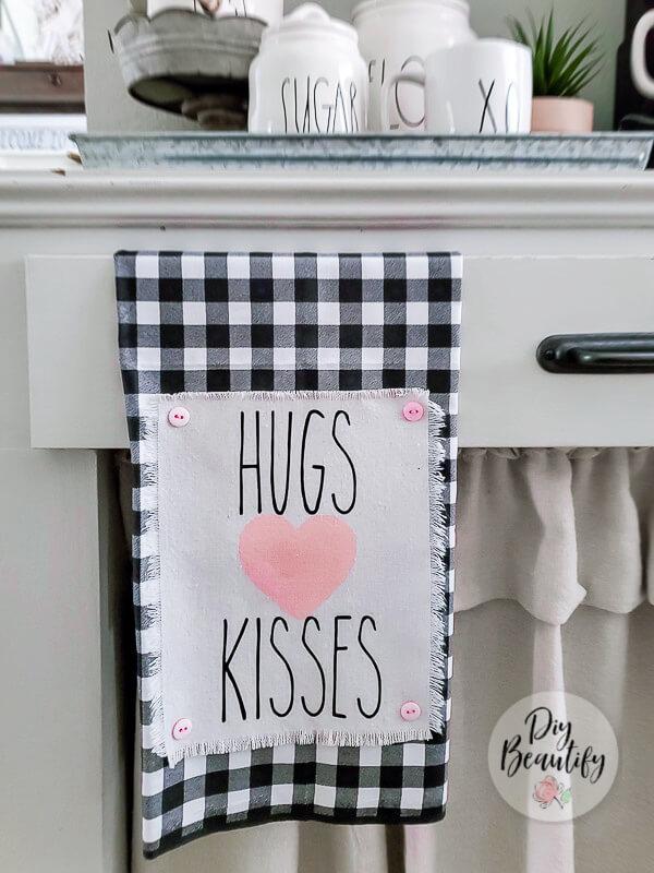 Rae Dunn Valentines tea towel