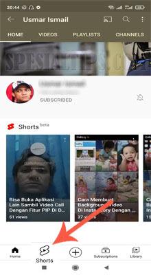 Membuat Video Shorts YouTube Melalui Android