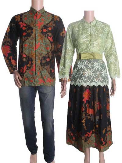 Baju Batik Couple Brokat