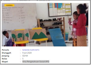 Download RPP Daring Ilmu Pengetahuan Alam (IPA) Kelas 5 SD