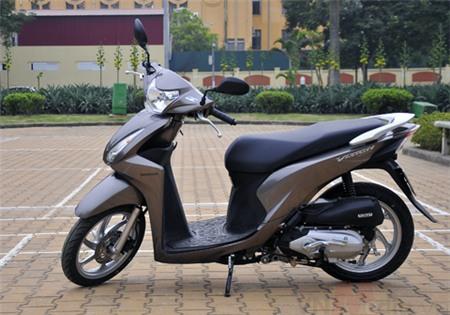 Sơn xe Honda Vision màu xám zin cực đẹp