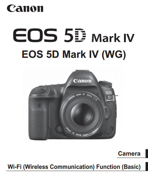 Canon EOS 5D Mark IV PDF User Guide / Manual Downloads