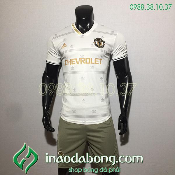 Áo bóng đá training CLB MU trắng 2020