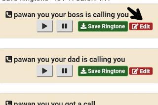 apne naam ki ringtone  banaye