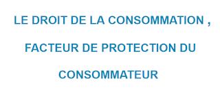 LE DROIT DE LA CONSOMMATION ,  FACTEUR DE PROTECTION DU  CONSOMMATEUR