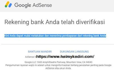 verifikasi rekening bank untuk pembayaran