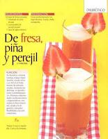 Jugos saludables fresa piña y perejil