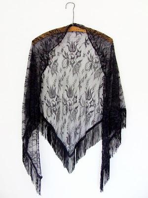 bohemian carf vintage clothes moda vintage chusta boho etno koronkowa netstylistka