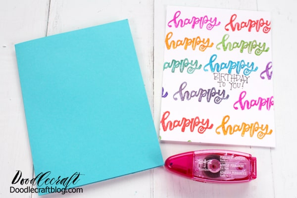 How to make a handmade card with tombow adhesive