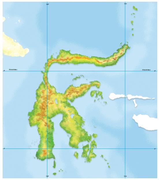 Peta Buta Pulau Sulawesi