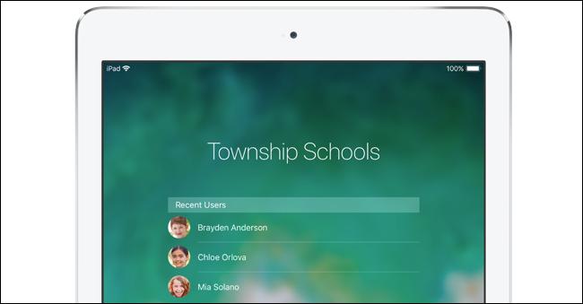 حسابات المستخدمين متعددة الطلاب على باد المدرسة.
