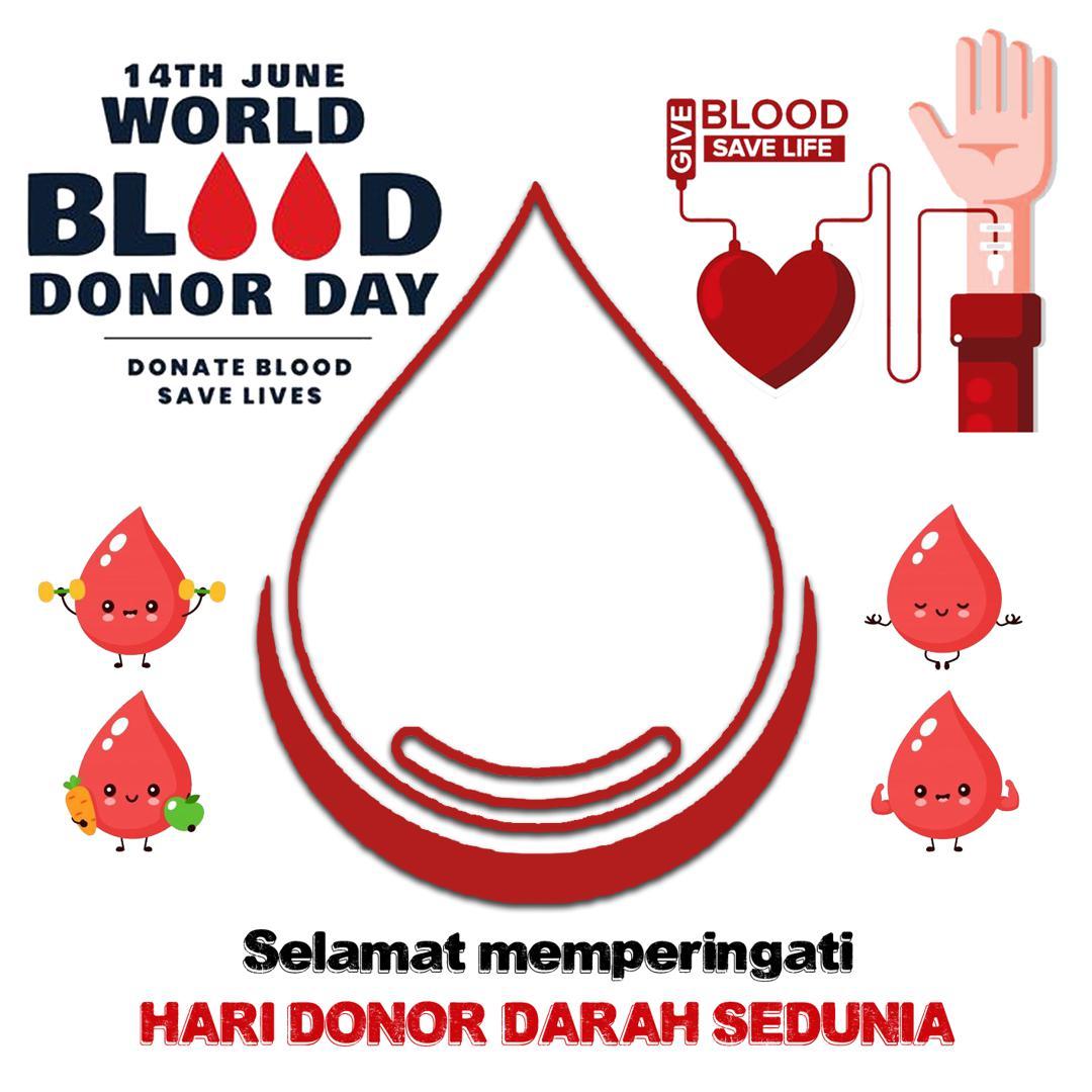 Download Frame Bingkai Twibbon World Blood Donor Day 2021 - Twibbonize