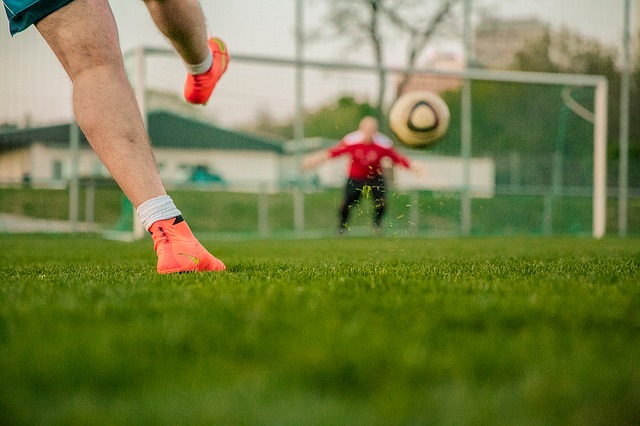 Types of kicks in soccer.