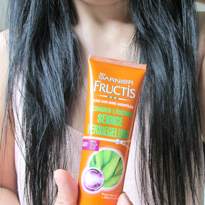 Review: Garnier Fructis - Schadenlöscher Seidige Versiegelung / Damage Eraser Heal & Seal Treatment