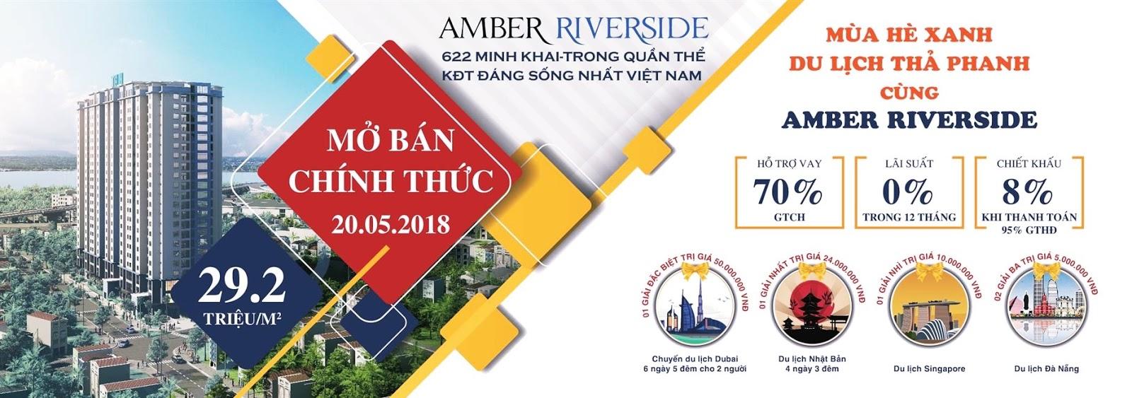 Banner mở bán đợt 1 dự án Amber Riverside