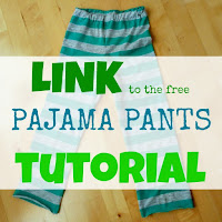 how to make summer pajama pants for kids