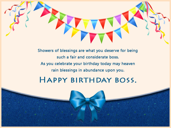 Humorous Birthday Wishes For Boss