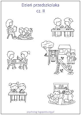Adaptacja do przedszkola rysunki